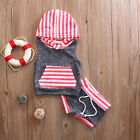 Toddler Baby Boy Sleeveless Striped Top T-shirt+Shorts 2PCS Outfit Set Clothes