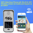 Wireless 720P WiFi 150° Intercom Security Chime Doorbell Password Fr Android IOS