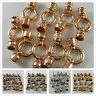 Mixed 5 Colors Alloy Connector Clasps End Cap Jewelry Making Accessories Finding