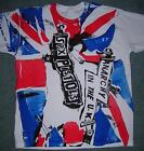 "Sex Pistols Punk T-shirt Anarchy in the UK Union Jack Flag Inside Out M38""  SALE"