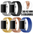 38mm/42mm Stainless Steel Magnetic iWatch Band Wrist Strap for Apple Watch 2017