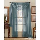 Elegance (2) Panels Sheer Window Curtains Drapes Set 84&quot; Long Rod Pocket Solid <br/> 25 Different Solid Colors to Match any Decor