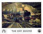 Vintage Railway POSTERS: LMS. THE DAY BEGINS :  A2 & A3 (196)