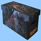 BCW: Illustrated Short Comic Boxes w/Lids: HELLBOY by Mignola 10 boxes/CASE-LOT