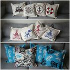 x4 Nautical Cushion Covers (Various Patterns) Seaside patterns - Stylish Covers