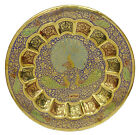 Décoratif laiton Meenakari Peacock Wall Hanging Gold Tone Wall Plate Home Décor