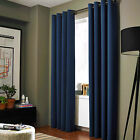 100% Blackout Panels Heavy Thick Grommet Bay Window Curtain 1 Set NAVY BLUE
