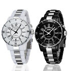 Men's Women's Stainless Steel Couples Wrist Watch LED Analog Quartz Waterproof  image