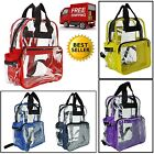 Guileless Backpack Transparent Plastic Travel Bag Unisex School Security Book Bags