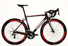 STRADALLI CARBON FIBER ROAD BICYCLE RED AERO WHEELSET SHIMANO ULTEGRA 6800