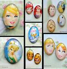 DISNEY NOVELTY FRIDGE MAGNET GLASS DOME CABOCHON ELSA POOH BELLE ARIEL LION KING