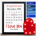 The Day You Became My Daddy Keepsake Personalised 1st First Fathers Day Gift