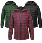 Kids Puffer Childrens Boys Quilted Puffa Hooded Girls Padded Bubble Warm Jacket