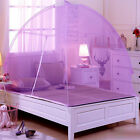 Mosquito Net Portable Folding Tent Dome mesh sheer Bed Canopy Double Single Door