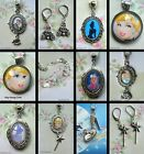 CINDERELLA CHARM EARRINGS NECKLACE PENDANT LOCKET DISNEY PRINCESS KEYRING