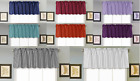 1PC Faux Silk Straight SMALL Window Valance Topper Waterfall rod pocket S18 NEW