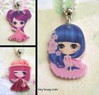 KAWAII CUTE GIRL ACRYLIC NECKLACE PENDANT ANIME