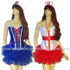 WOMEN'S CORSET UNIFORM COSTUMES SAILOR NURSE