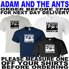 ADAM AND THE ANTS TSHIRT ALL SIZES TO 5XL(OTHER COLOURS AVAILABLE)