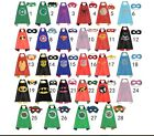 Superhero CAPE AND MASK SET super hero batman superman Kids Halloween costume