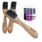 Women's Men's Wood Multicolored Covered Suede Sole Dance Shoe Wire Brush VFS