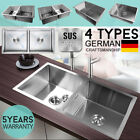 Stainless Steel Kitchen Sink Bowl Under/Topmount Laundry Handmade Single Double