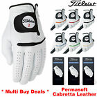 TITLEIST GOLF GLOVES PERMASOFT FULL CABRETTA LEATHER PALM ALL SIZES MENS