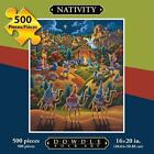 500 PIECE JIGSAW PUZZLE NATIVITY BY DOWDLE POSTER INCL 100% COMPLETE EXC COND