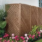 """60"""" Wood 4 Panel Air Conditioner Screen Cover Outdoor Pri..."""