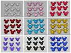 Внешний вид - 50 Flatback Resin Dotted Rhinestone Gems Mouse Face 14X12mm Pick Your Color