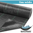 3m wide 100g Weed Control Fabric Garden Landscape Ground Cover Membrane Mulch