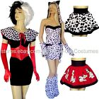 101 DALMATIANS WOMENS CARTOON CHARACTER FANCY DRESS COSTUMES