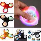 LED Flashing Fidget Hand Spinner Finger Tri-Spinner Toys Light Up Stress Toy UK