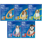 NEW NexGard Spectra For Dogs 3 or 6 Pack All in 1 Tick Worm and Flea Treatment