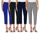 Hilary Radley Women's Slim Leg Dress Slacks Capri Variety New