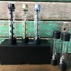 Black Silver Gold Twisty Glass Includes 1 Extra Tube HighTECH