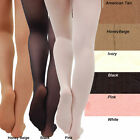 Dance Tights - White, Ivory, Pink, American Tan, Black & Honey Beige