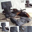 Carribean Pirate Boots Black / Brown Sizes UK 7-13 Prefect for Costume and LARP