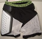 "DAINESE ""EVO"" ACTION SHORTS HIP/COCCYX PROTECTION COLOR:BL/WH SIZE:,L,XXL NEW"