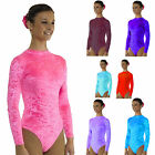 Girls Dance / Gymnastics Long Sleeve Leotard -  7 COLOURS Available *UK STOCK*