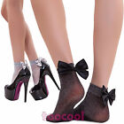 Socks woman tights lurex ankle tights bow papillon new SL116