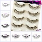 Kyпить 5 Pairs False Eyelashes Long Thick Natural Fake Eye Lashes Set Mink Makeup UK на еВаy.соm