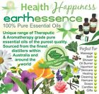 earthessence CERTIFIED 100% PURE ESSENTIAL OILS ~ L - Z ~ FREE GIFT Aromatherapy