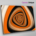 AB1122 Orange black modern swirl L Abstract Canvas Wall Art Framed Picture Print