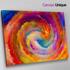 AB1502 orange swirl cloudy modern Abstract Canvas Wall Art Framed Picture Print