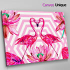 AB1490 pink flamingo retro large Abstract Canvas Wall Art Framed Picture Print