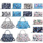 Ladies Birds Flower Designer Handbag Purse Oilcloth Tote Shoulder Bag Wallet