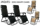 FOLDING ZERO GRAVITY SUN LOUNGER CHAIR RECLINER GARDEN SUN DECK BED RECLINING