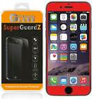 SuperGuardZ FULL COVER Tempered Glass Screen Protector For iPhone 7 & Plus [Red]