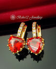 Red Heart Earring/Gold/RGE673